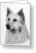 German Shepherd Greeting Card by Lorraine Foster