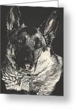 German Shepherd Greeting Card