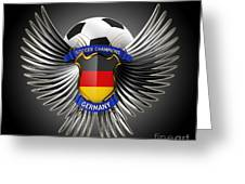 German Soccer Champions Greeting Card