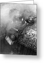 German Soldiers Launch A Suprise Attack On Bunker 17. Greeting Card