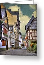 German Village Greeting Card