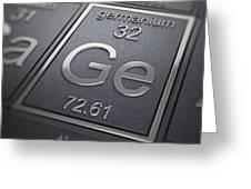 Germanium Chemical Element Greeting Card
