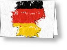 Germany Painted Flag Map Greeting Card