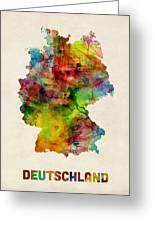 Germany Watercolor Map Deutschland Greeting Card