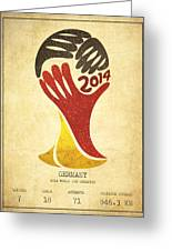 Germany World Cup Champion Greeting Card