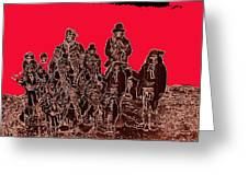 Geronimo And Family Surrendering Collage Number 1 C.s. Fly 1887-2012 Greeting Card
