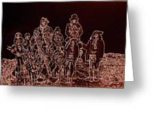 Geronimo And Family Surrendering Collage Number 2 C.s. Fly 1887-2012 Greeting Card