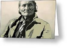 Geronimo As Photographed By A. Rinehart Omaha Nebrasks  1898-2013.  Greeting Card