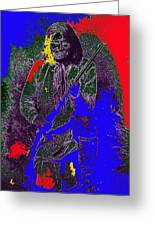 Geronimo Film Homage  Stylized Ben Wittick Photo Greeting Card
