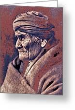 Geronimo  Photographed By Edward S. Curtis  1903-2013 Greeting Card