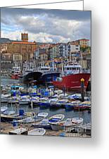 Getaria In Basque Country Spain Greeting Card