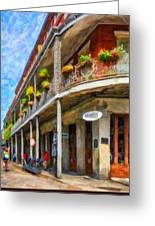 Getting Around The French Quarter - Watercolor Greeting Card
