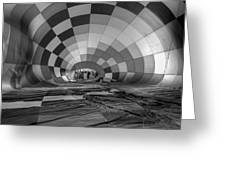Getting Inflated-bw Greeting Card