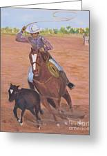 Getting Ready For Rodeo Greeting Card