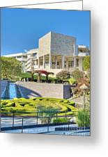 Getty Center Central  Garden Brentwood  Ca Greeting Card