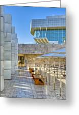 Getty Center Tram Waiting Area Brentwood  Ca Greeting Card