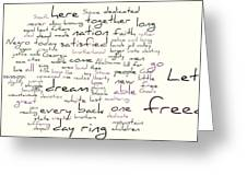 Gettysburg Address And I Have A Dream Greeting Card by David Bearden