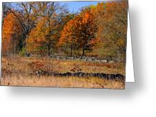 Gettysburg At Rest - Autumn Looking Towards The J. Weikert Farm Greeting Card