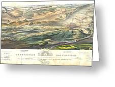 Gettysburg Battlefield 1863 Greeting Card