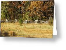 Gettysburg Battlefield October Greeting Card