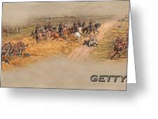Gettysburg Cyclorama Detail Pickett's Charge  Greeting Card
