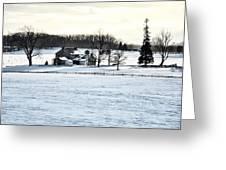 Gettysburg Farm In The Snow Greeting Card