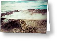 Geyser Sol De Manana Greeting Card