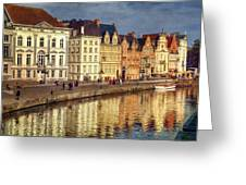 Ghent Waterfront Greeting Card