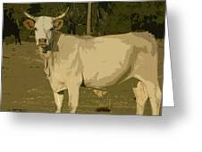 Ghost Cow 2 Greeting Card