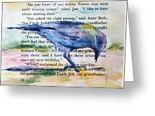 Ghost Crow Greeting Card