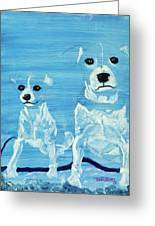 Ghost Dogs Greeting Card