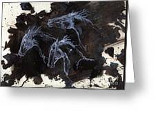 Ghost Horses Greeting Card