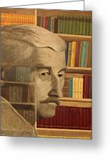 Ghost In The Library  William Faulkner Greeting Card by Patrick Kelly