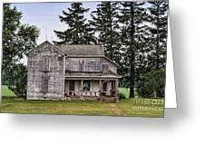 Ghost Manor Greeting Card by Pamela Baker