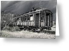 Ghost Passenger Train Coach Greeting Card