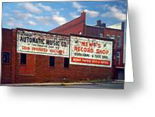 Ghost Sign. Clarksville Tennessee  Greeting Card