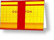 Ghost Station In Red And Yellow Greeting Card