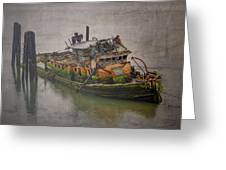 Ghost Steamer Greeting Card