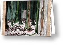 Ghost Stories Forest Graveyard By Jrr Greeting Card