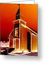 Ghost Town Church Greeting Card