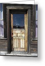 Ghost Town Handcrafted Door Greeting Card