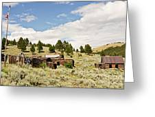 Ghost Town In Summer Greeting Card