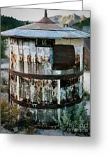 Ghost Town Water Tank Greeting Card