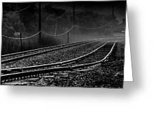 Ghost Tracks Greeting Card