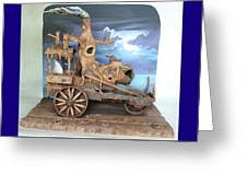 Ghost Tractor Greeting Card