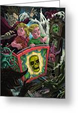 Ghost Train Fun Fair Kids Greeting Card by Martin Davey