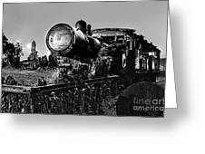 Ghost Train In Paranapiacaba - Locobreque Greeting Card