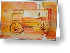 Ghost Wagon Greeting Card