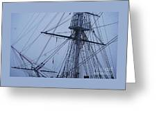 Ghostly Rigging In Snow Greeting Card