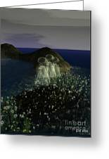 Ghosts And Daisies Greeting Card